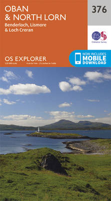 Oban and North Lorn - OS Explorer Active Map 376 (Sheet map, folded)