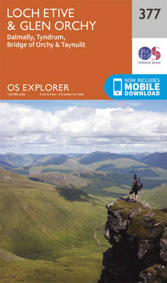 Loch Etive and Glen Orchy - OS Explorer Active Map 377 (Sheet map, folded)