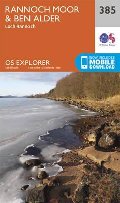 Rannoch Moor and Ben Alder - OS Explorer Active Map 385 (Sheet map, folded)