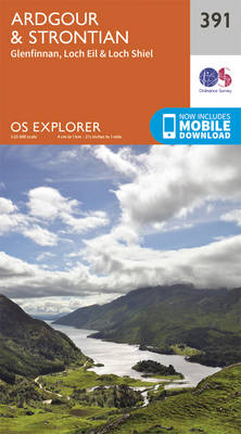 Ardgour and Strontian - OS Explorer Active Map 391 (Sheet map, folded)