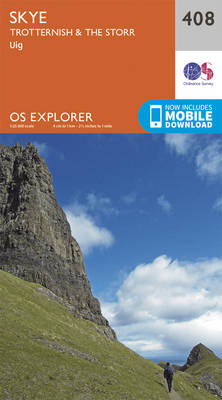 Skye - Trotternish and the Storr - OS Explorer Active Map 408 (Sheet map, folded)