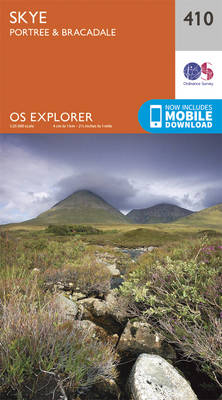 Skye - Portree and Bracadale - OS Explorer Active Map 410 (Sheet map, folded)