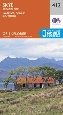 Skye - Sleat - OS Explorer Active Map 412 (Sheet map, folded)
