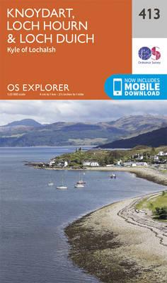 Knoydart, Loch Hourn and Loch Duich - OS Explorer Active Map 413 (Sheet map, folded)