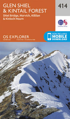 Glen Shiel and Kintail Forest - OS Explorer Active Map 414 (Sheet map, folded)