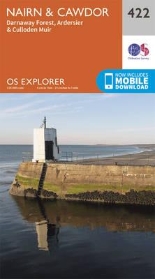 Nairn and Cawdor - OS Explorer Active Map 422 (Sheet map, folded)
