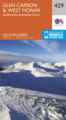 Glen Carron and West Monar - OS Explorer Active Map 429 (Sheet map, folded)