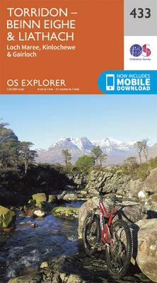 Torridon - Beinn Eighe and Liathach - OS Explorer Active Map 433 (Sheet map, folded)