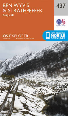 Ben Wyvis and Strathpeffer - OS Explorer Active Map 437 (Sheet map, folded)