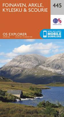 Foinaven, Arkle, Kylesku and Scourie - OS Explorer Active Map 445 (Sheet map, folded)