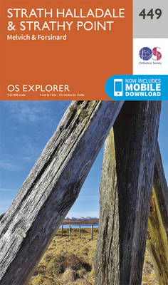 Strath Halladale and Strathy Point - OS Explorer Active Map 449 (Sheet map, folded)