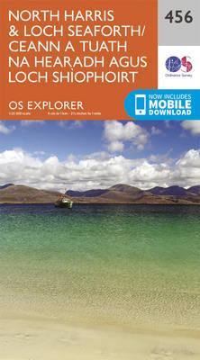 North Harris and Loch Seaforth/Ceann a Tuath Na Hearadh Agus Loch Shiphoirt - OS Explorer Active Map 456 (Sheet map, folded)