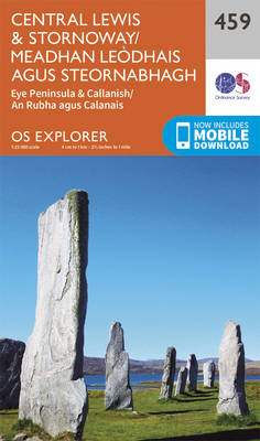 Central Lewis and Stornaway/Meadhan Leodhais Agus Steornabhagh - OS Explorer Active Map 459 (Sheet map, folded)