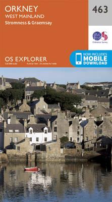 Orkney - West Mainland - OS Explorer Active Map 463 (Sheet map, folded)