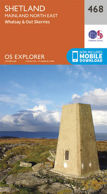 Shetland - Mainland North East - OS Explorer Active Map 468 (Sheet map, folded)