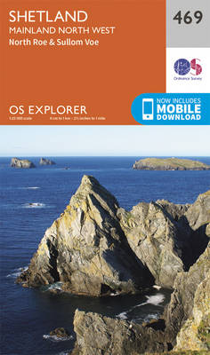 Shetland - Mainland North West - OS Explorer Active Map 469 (Sheet map, folded)