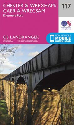 Chester & Wrexham, Ellesmere Port - OS Landranger Map 117 (Sheet map, folded)