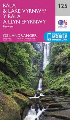 Bala & Lake Vyrnwy, Berwyn - OS Landranger Map 125 (Sheet map, folded)