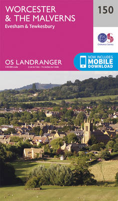 Worcester & the Malverns, Evesham & Tewkesbury - OS Landranger Map 150 (Sheet map, folded)
