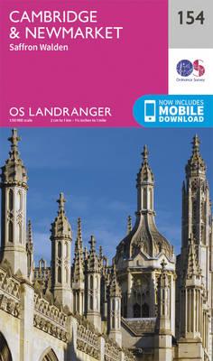 Cambridge, Newmarket & Saffron Walden - OS Landranger Map 154 (Sheet map, folded)