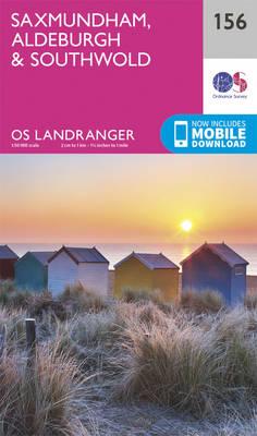 Saxmundham, Aldeburgh & Southwold - OS Landranger Map 156 (Sheet map, folded)