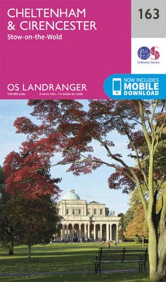 Cheltenham & Cirencester, Stow-on-the-Wold - OS Landranger Map 163 (Sheet map, folded)