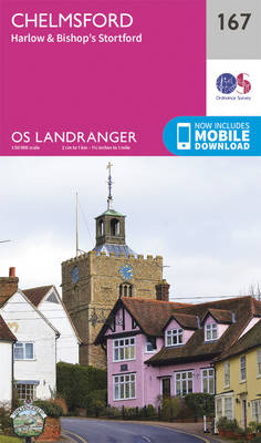 Chelmsford, Harlow & Bishop's Stortford - OS Landranger Map 167 (Sheet map, folded)