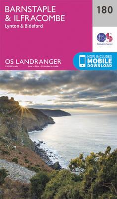 Barnstaple & Ilfracombe, Lynton & Bideford - OS Landranger Map 180 (Sheet map, folded)