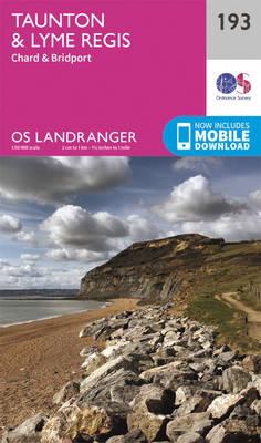 Taunton & Lyme Regis, Chard & Bridport - OS Landranger Map 193 (Sheet map, folded)