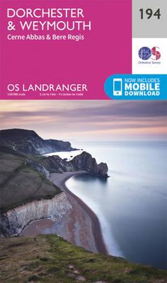 Dorchester & Weymouth, Cerne Abbas & Bere Regis - OS Landranger Map 194 (Sheet map, folded)