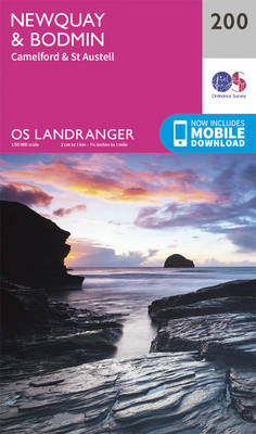 Newquay, Bodmin, Camelford & St Austell - OS Landranger Map 200 (Sheet map, folded)