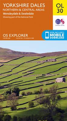 Yorkshire Dales Northern & Central - OS Explorer Map OL30 (Sheet map, folded)