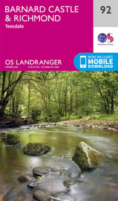 Barnard Castle & Richmond - OS Landranger Map 92 (Sheet map, folded)