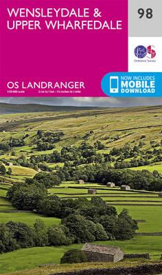 Wensleydale & Upper Wharfedale - OS Landranger Map 98 (Sheet map, folded)