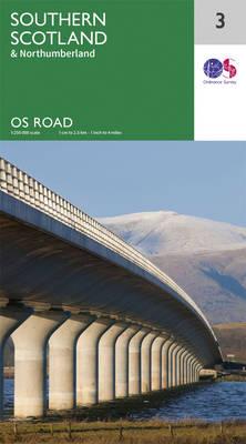 Southern Scotland & Northumberland - OS Road Map 3 (Sheet map, folded)
