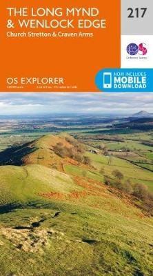 The Long Mynd & Wenlock Edge: Church Stretton & Craven Arms - OS Explorer Map 217 (Sheet map, folded)