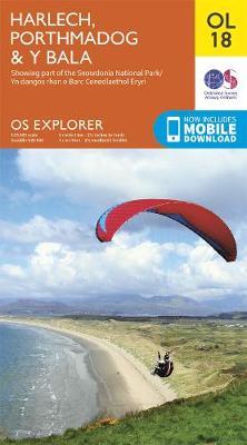 Harlech: Porthmadog & Bala / Y Bala - OS Explorer OL18 (Sheet map, folded)