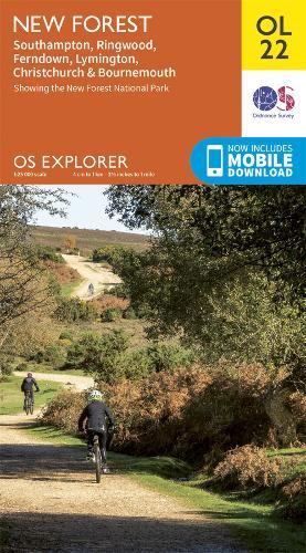 New Forest - OS Explorer Map OL 22 (Sheet map, folded)