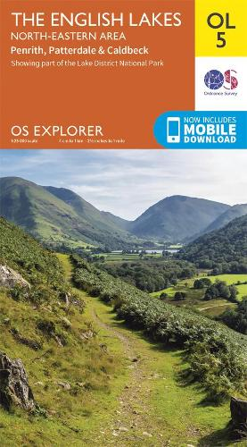 The English Lakes North-Eastern Area: Penrith, Patterdale & Caldbeck - OS Explorer OL 5 (Sheet map, folded)