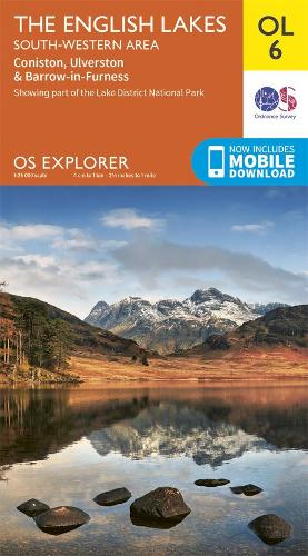 The English Lakes South-Western Area: Coniston, Ulverston & Barrow-in-Furness - OS Explorer OL 6 (Sheet map, folded)