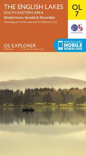 The English Lakes South-Eastern Area: Windermere, Kendal & Silverdale - OS Explorer OL 7 (Sheet map, folded)