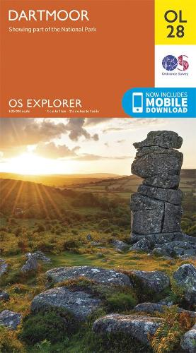 Dartmoor - OS Explorer OL 28 (Sheet map, folded)