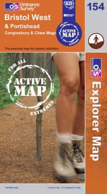Bristol West and Portishead - OS Explorer Map Active Sheet 154 (Sheet map, folded)