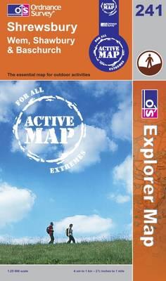 Shrewsbury - OS Explorer Map Active No. 241 (Sheet map, folded)