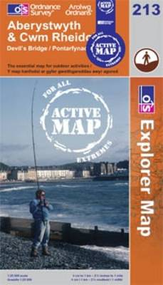 Aberystwyth and Cwm Rheidol - OS Explorer Map Active No. 213 (Sheet map, folded)