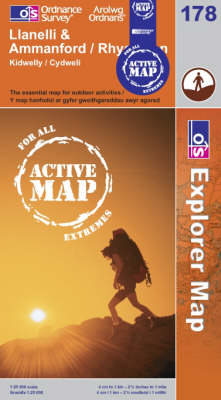 Llanelli and Ammanford / Rhydaman - OS Explorer Map Active Sheet  178 (Sheet map, folded)