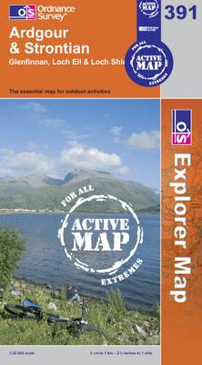Ardgour and Strontian - OS Explorer Map Active No. 391 (Sheet map, folded)