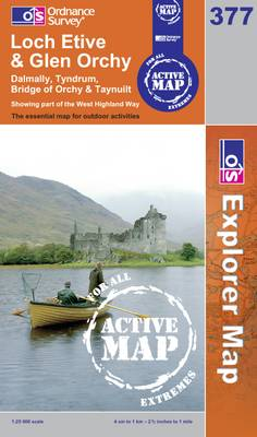 Loch Etive and Glen Orchy - OS Explorer Map Active No. 377 (Sheet map, folded)