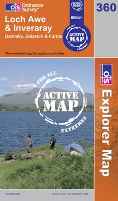 Loch Awe and Inveraray - OS Explorer Map Active No. 360 (Sheet map, folded)