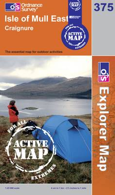 Isle of Mull East - OS Explorer Map Active No. 375 (Sheet map, folded)